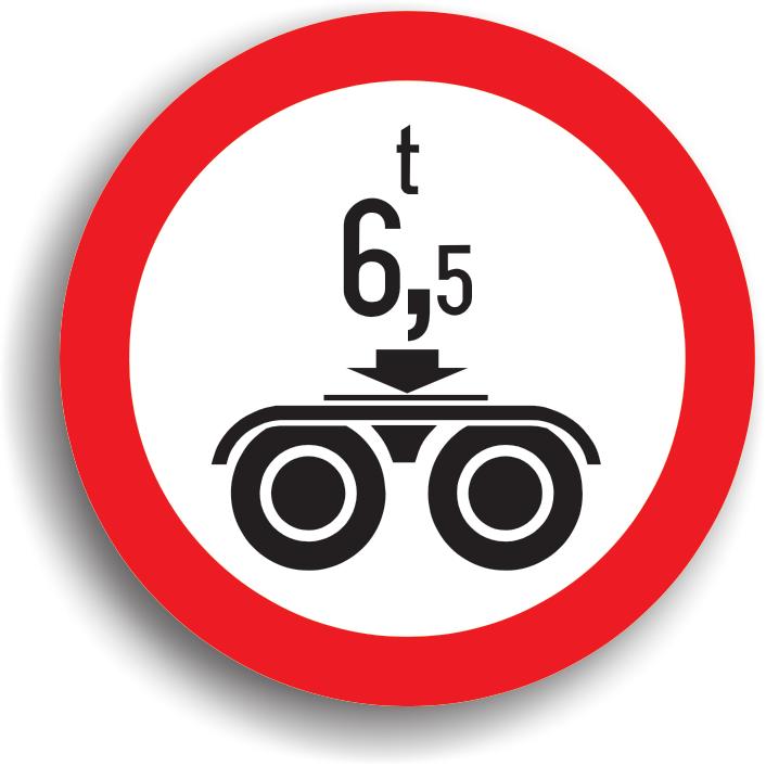 Se instaleaza pe sectorul de drum pe care este interzis accesul vehiculelor cu o masa pe osia dubla mai mare decat cea inscriptionata pe panou.