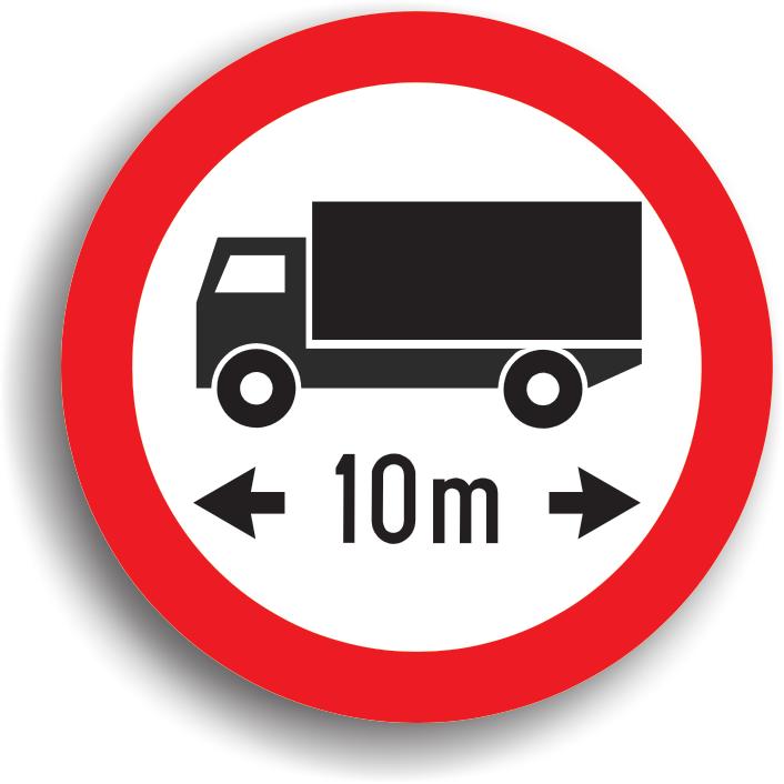 Se amplaseaza la intrarea pe drumurile publice pe care accesul autovehiculelor sau ansamblurilor de vehicule, cu lungimea mai mare decat cea inscriptionata pe panou, este interzis.
