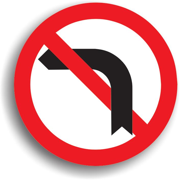 Se afla instalat inaintea intersectiei in care se interzice virajul la stanga, deoarece pe drumul respectiv circulatia se desfasoara intr-un singur sens sau intrucat executarea virajului ar pune in pericol ceilalti participanti la trafic. Indicatorul interzice si intoarcerea. Zona de actiune a indicatorului se termina dupa prima intersectie.