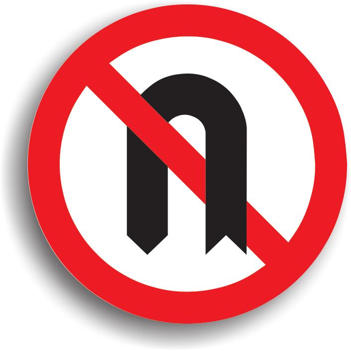 Are rolul de a interzice intoarcerea in zona respectiva, deoarece daca s-ar executa aceasta manevra ceilalti participanti la trafic ar putea fi pusi in pericol.
