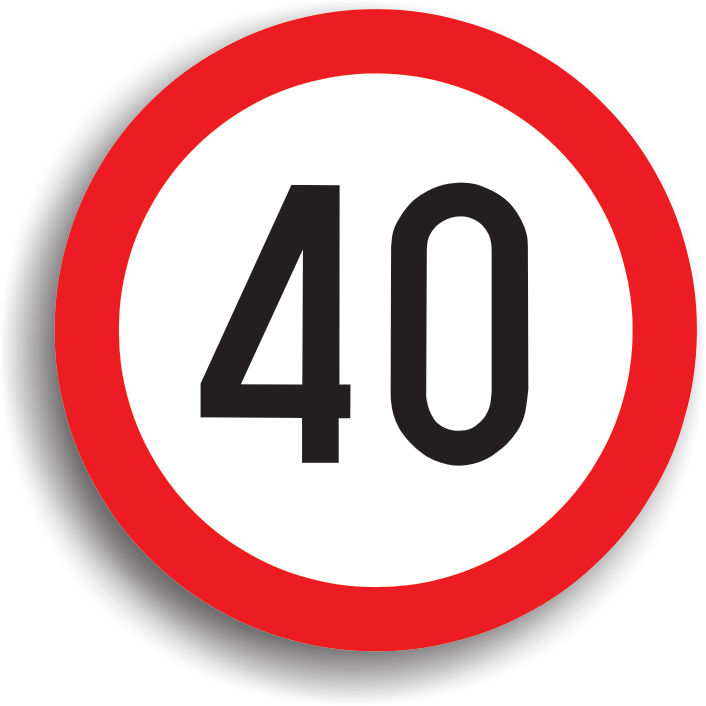 """Este montat pe sectorul de drum unde viteza de circulatie a vehiculelor trebuie limitata. Zona de actiune incepe din dreptul indicatorului si se termina la intalnirea indicatorului """"Sfarsitul limitarii de viteza"""" sau """"Sfarsitul tuturor restrictiilor"""". Daca indicatorul este insotit si de un panou cu numele localitatii, atunci limita de viteza este valabila pentru intreaga localitate."""