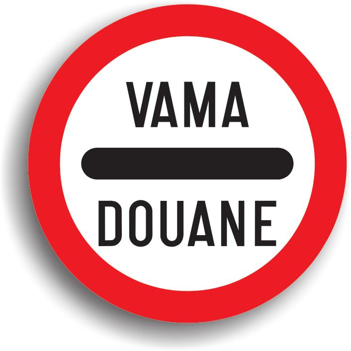 Se amplaseaza inaintea punctului vamal. La intalnirea acestui indicator, conducatorul de vehicul este obligat sa opreasca la punctul vamal.