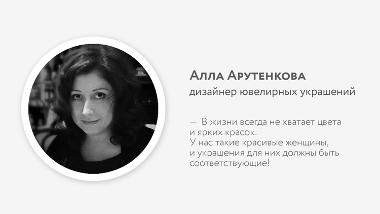 Алла Арутенкова, автор коллекции «Express Yourself»