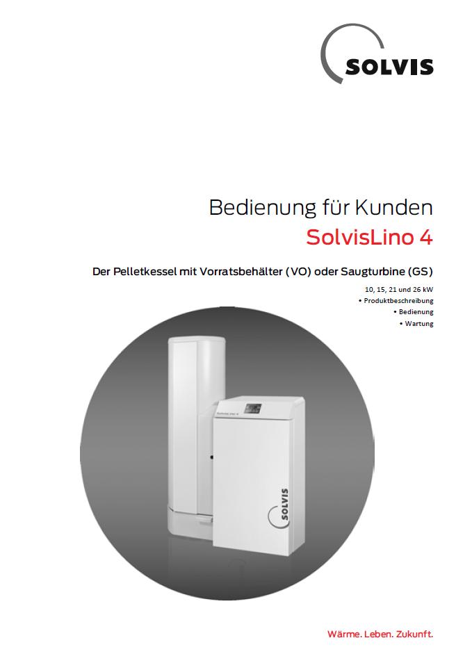 Downloads - Bedienungsanleitung SolvisLino 4 Pelletheizung