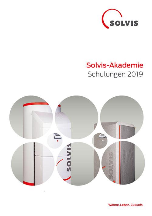 Schulungsbroschüre Solvis-Akademie 2018