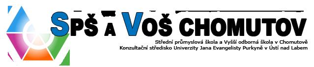 Střední průmyslová škola a Vyšší odborná škola, Chomutov Školní 50, příspěvková organizace logo