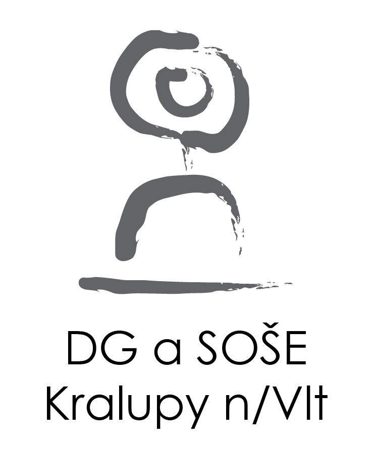 Dvořákovo gymnázium a SOŠE logo