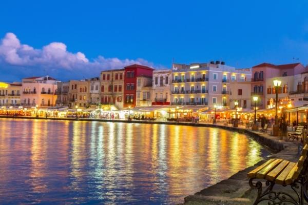 Chania 7 at night crete greece