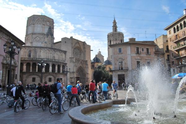 Valencia Groep fietsers