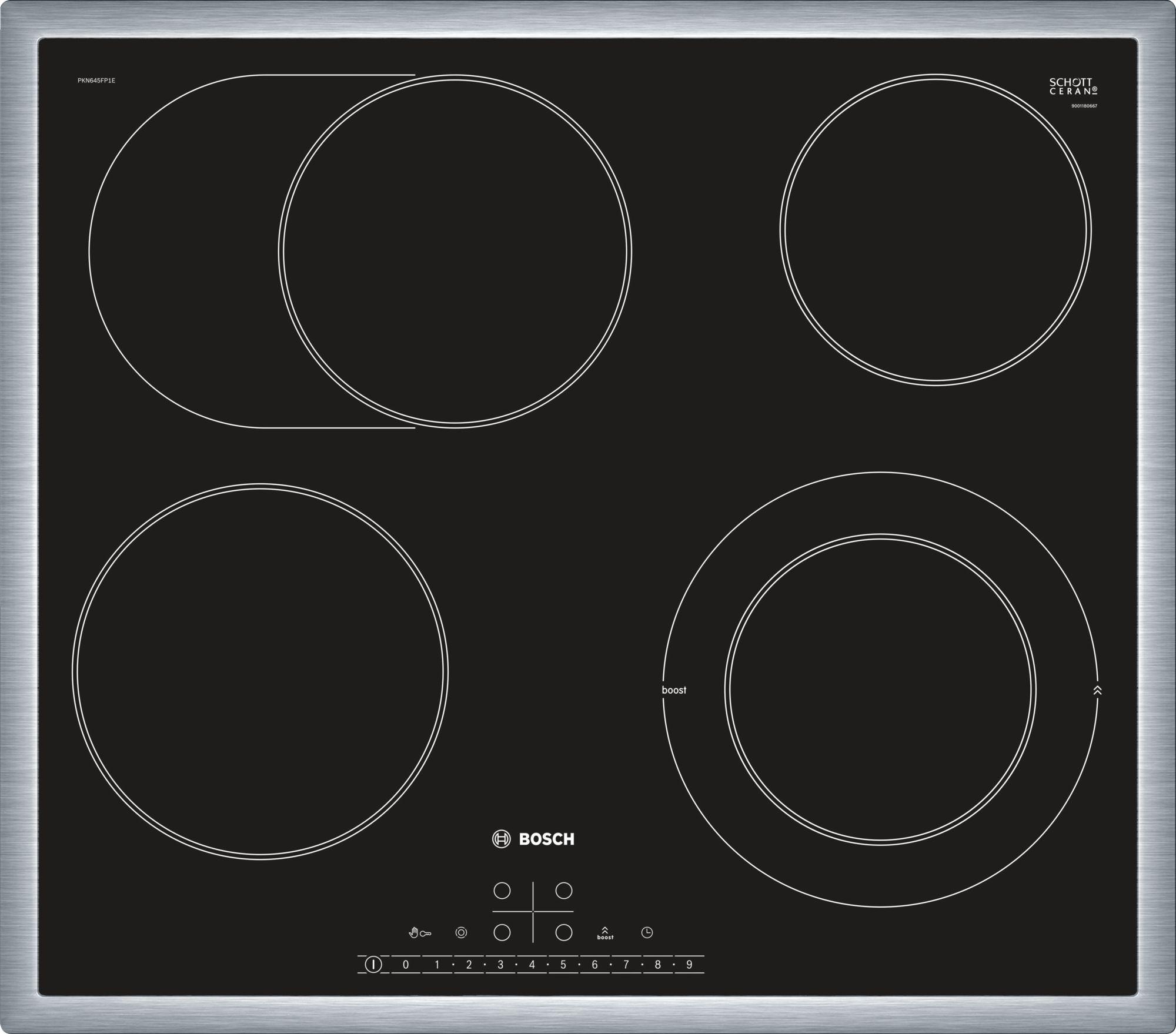 Serie | 6 staklokeramička ploča za kuvanje, 60 cm