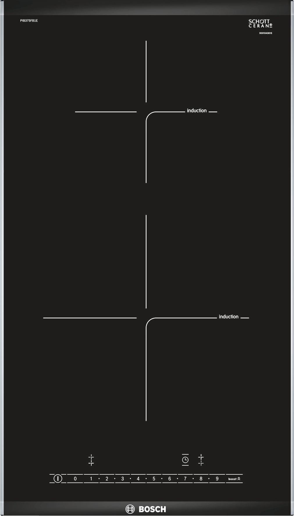 Serie | 6 Indukciona staklokeramička ploča za kuvanje domino, 30 cm