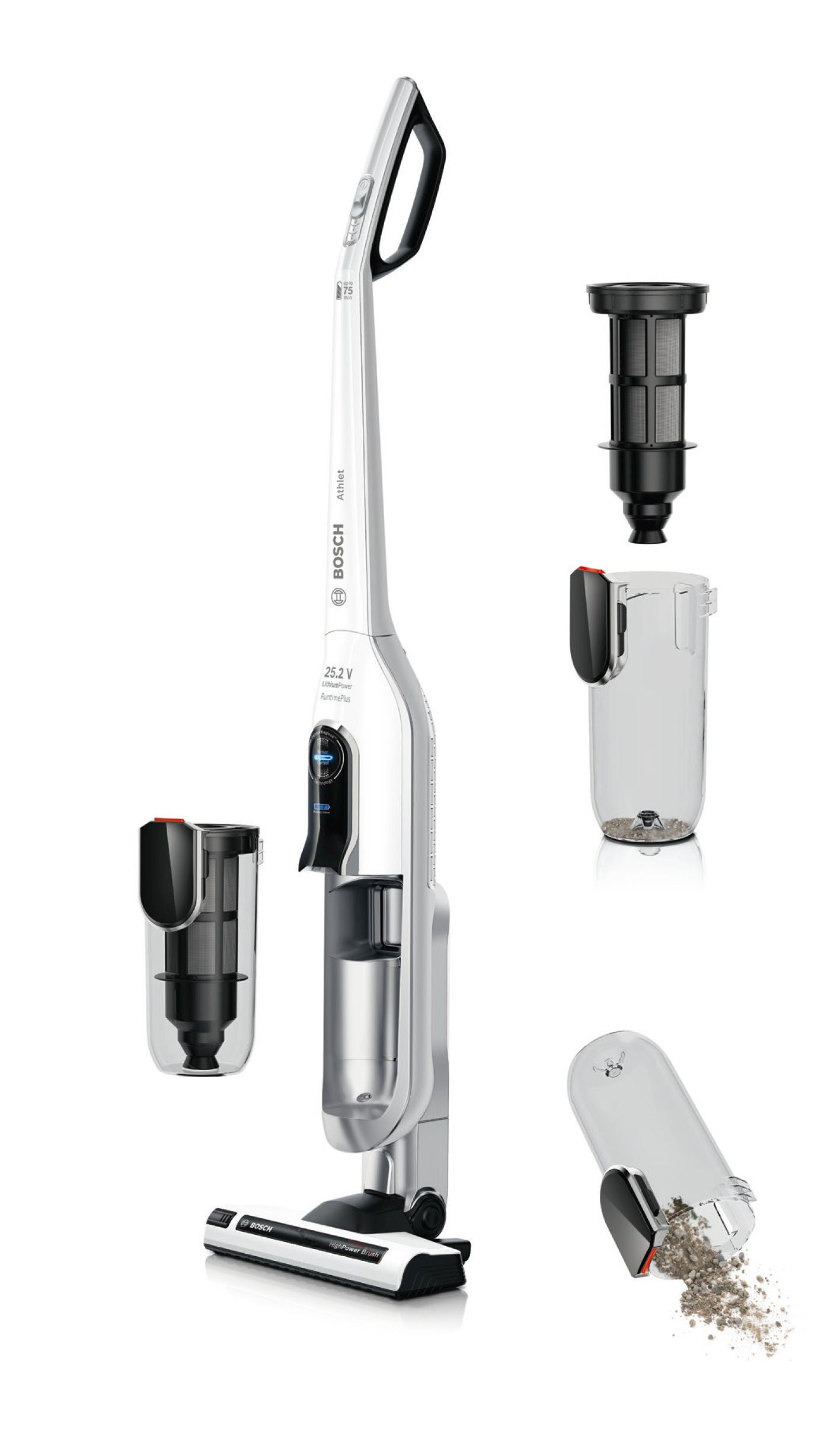 Akumulatorski usisivač Bosch Athlet RuntimePlus 25.2V
