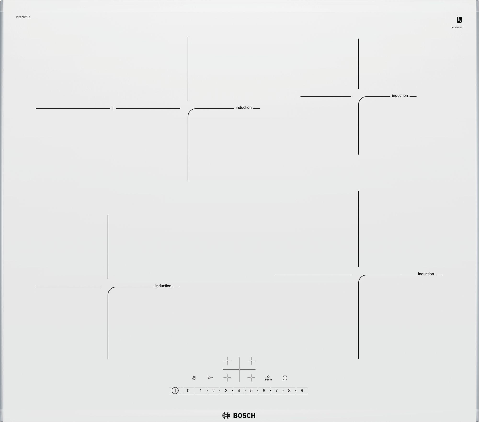Serie | 6 Indukciona staklokeramička ploča za kuvanje, 60 cm