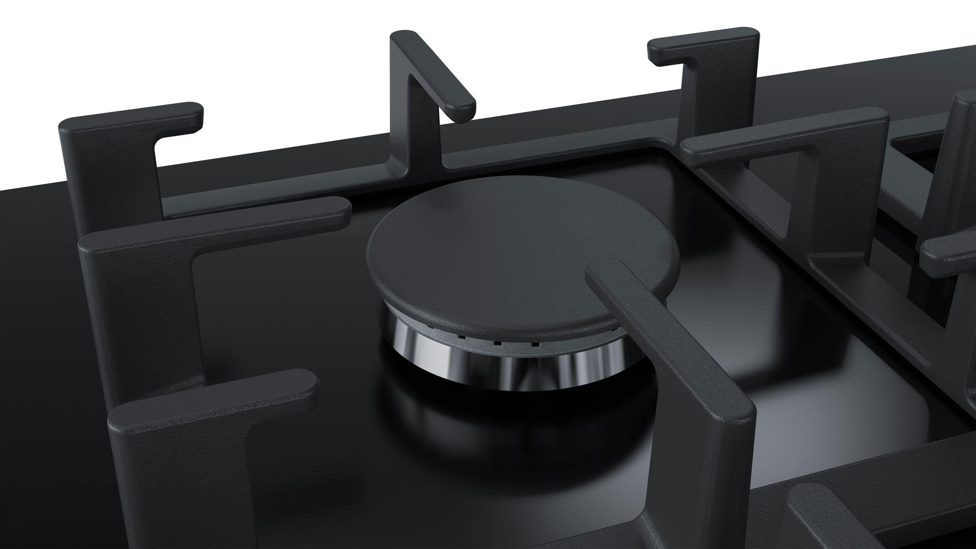 Serie | 6 Plinska ploča za kuvanje na kaljenom staklu, crna, 60 cm