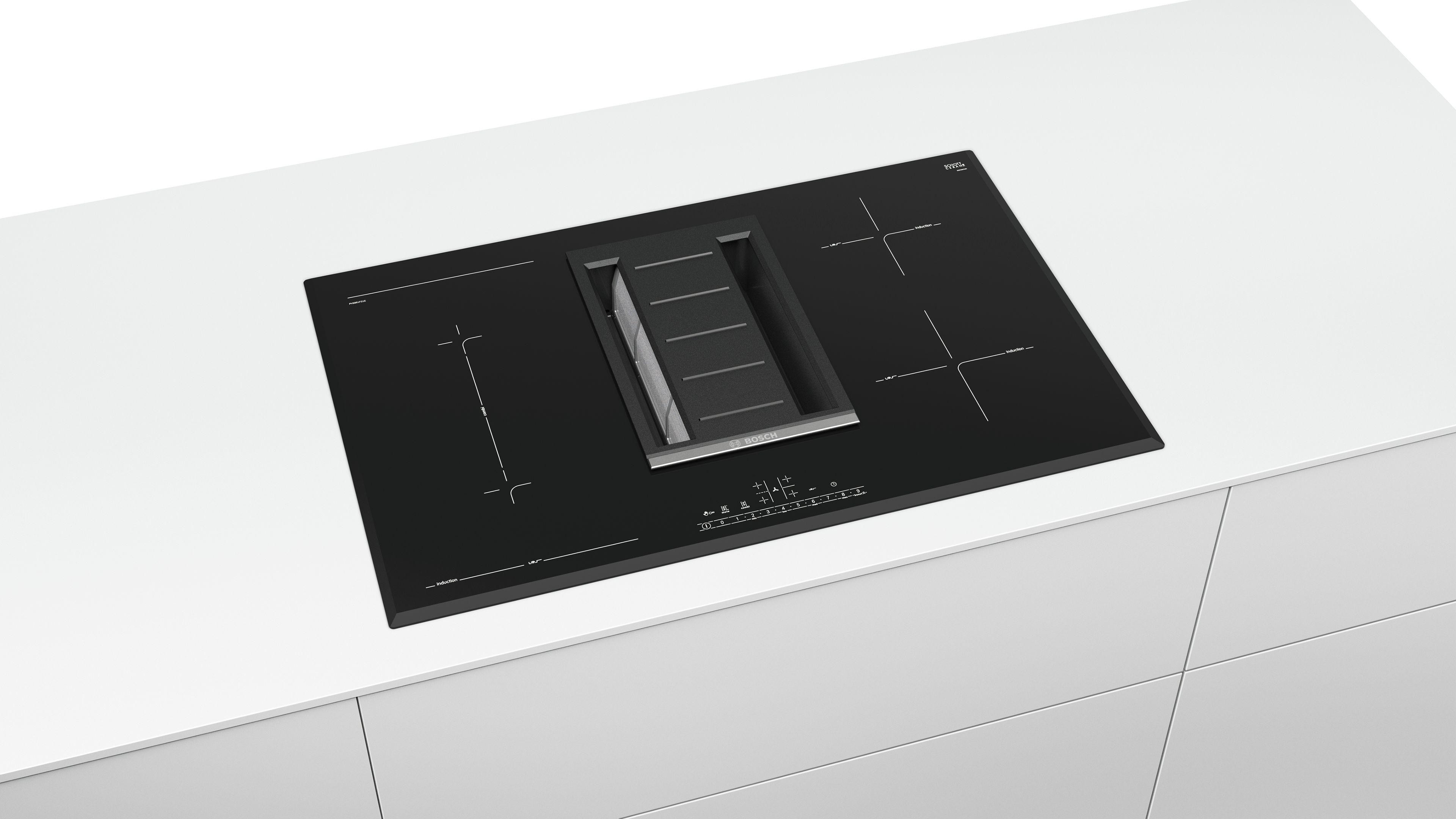 Induk. ploča za kuvanje sa int. aspirat. Indukciona staklokeramička ploča za kuvanje, 80 cm
