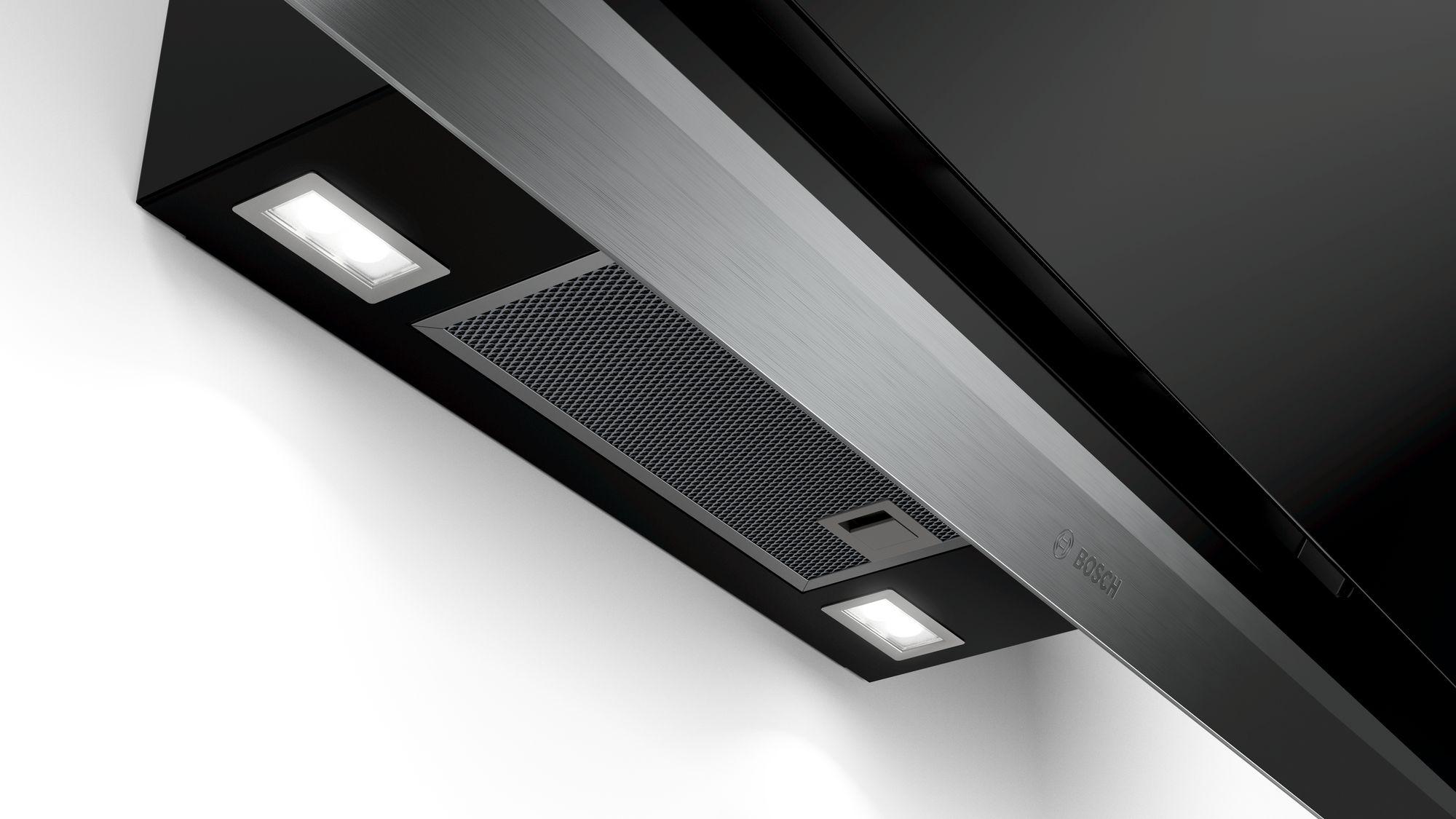 Serie | 8 Zidni aspirator90 cm clear glass black printed