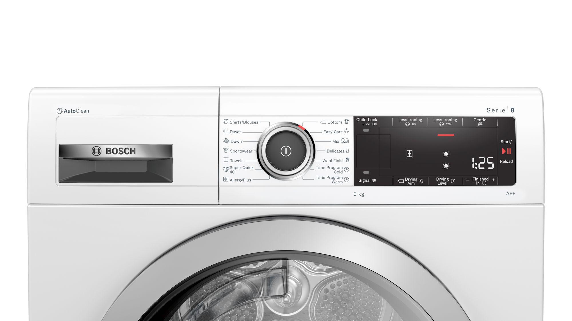 Serie | 8 Mašina za sušenje veša sa toplotnom pumpom 9 kg