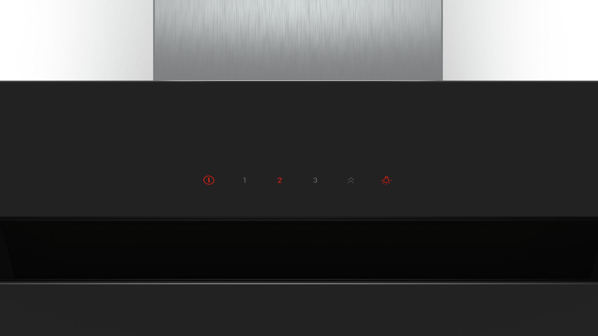 Serie | 6 Zidni aspirator, 90 cm Nagnut zaslon