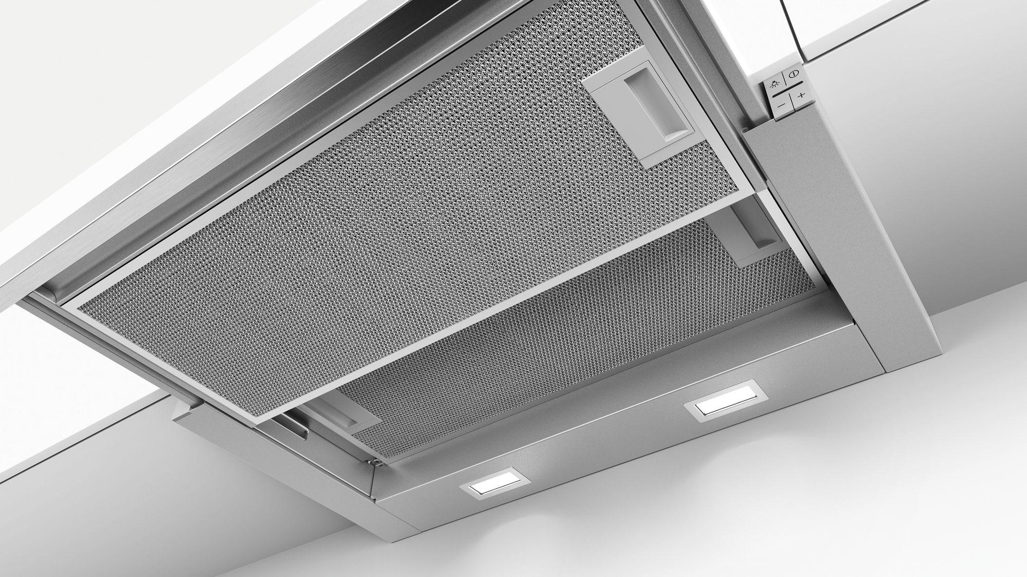 Serie | 4 Ugradni aspirator na izvlačenje Metalno-sivi 60 cm