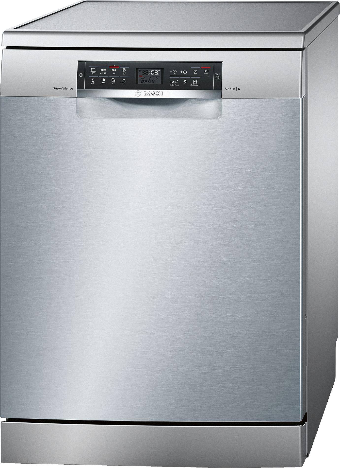 Serie | 6 SuperSilence mašina za pranje sudova, 60 cm samostalna mašina za pranje sudova, Silver inox