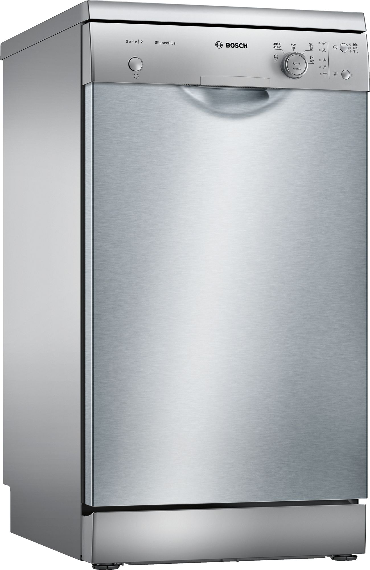 Serie | 2 Silence Plus mašina za pranje sudova, 45 cm samostalna mašina za pranje sudova, Silver inox