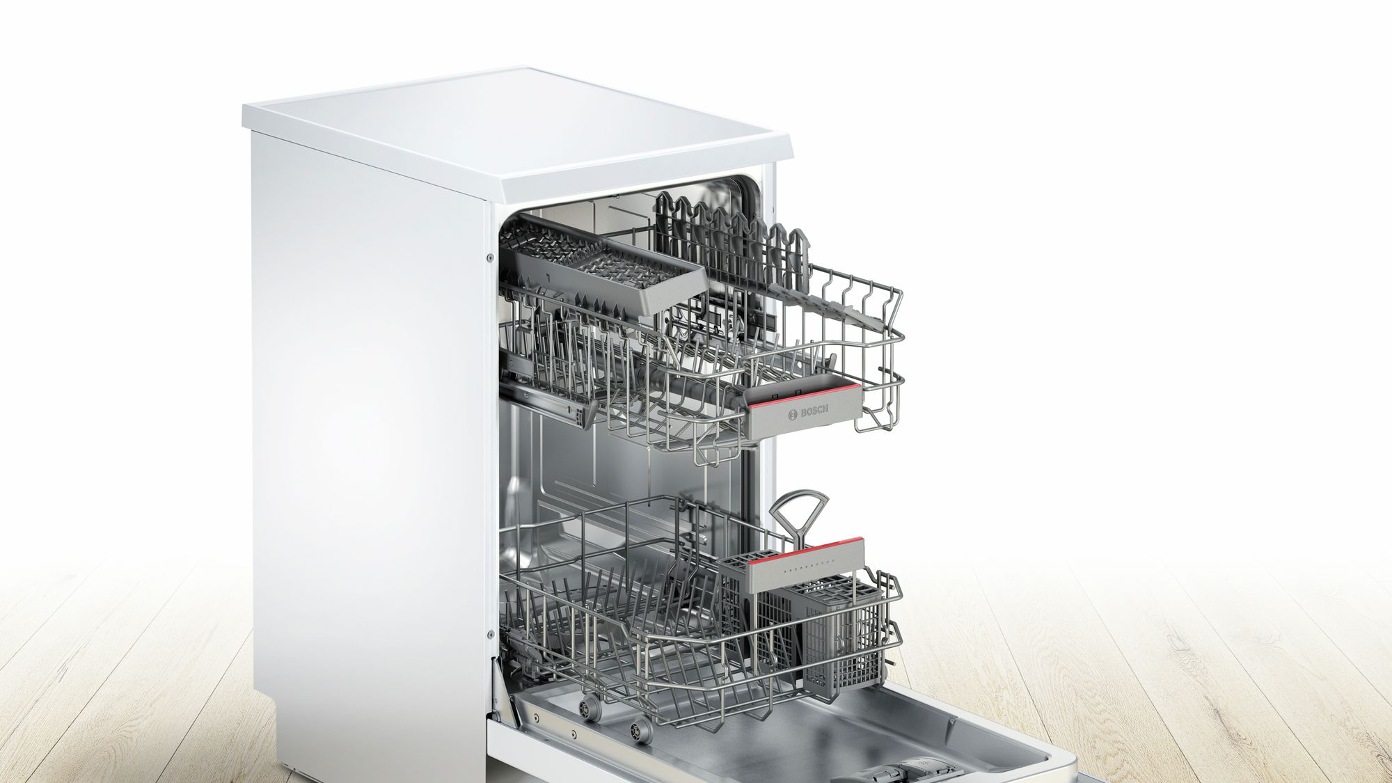 Serie | 4 SuperSilence mašina za pranje sudova, 45 cm samostalna mašina za pranje sudova, bela