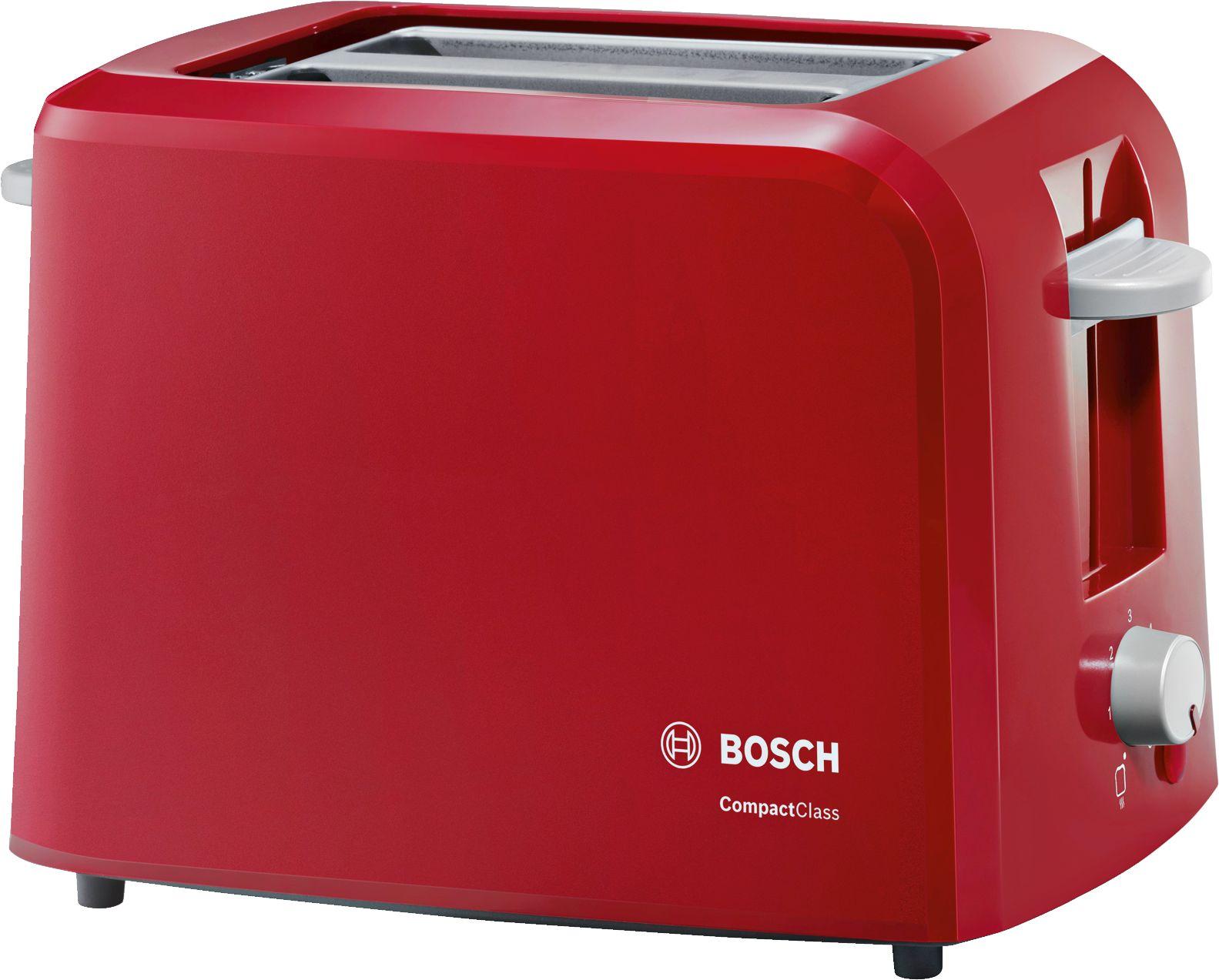 Toster electronic CompactClass crvena / svetlo siva