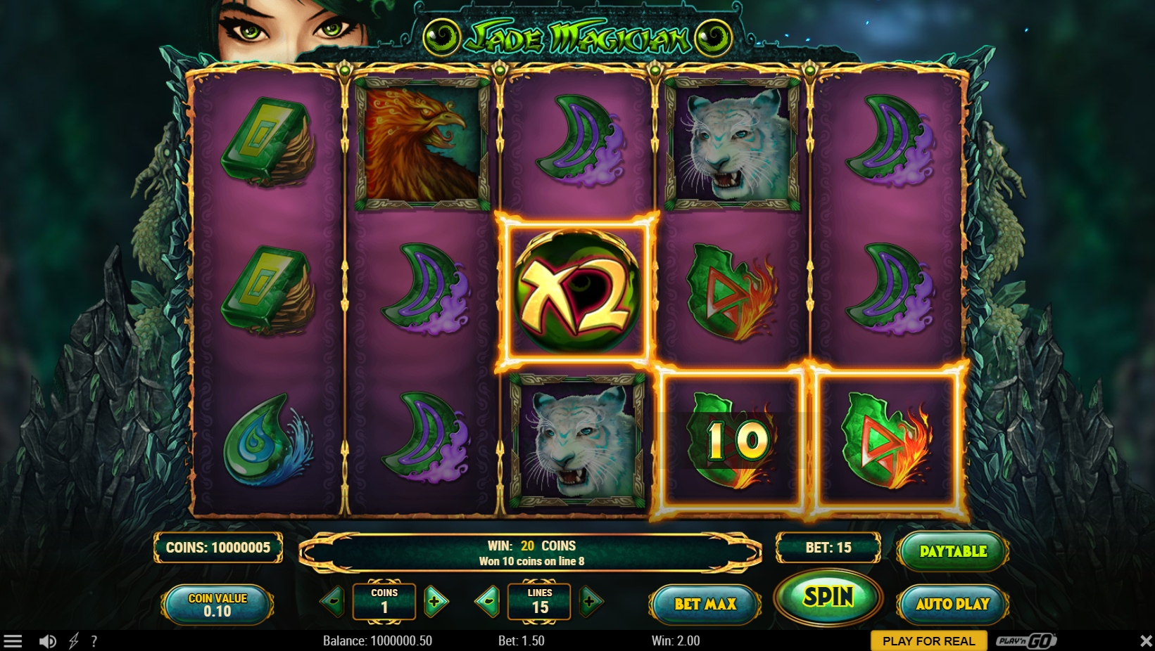Play new Bitcoin slot game from Play'n Go - Jade Magician