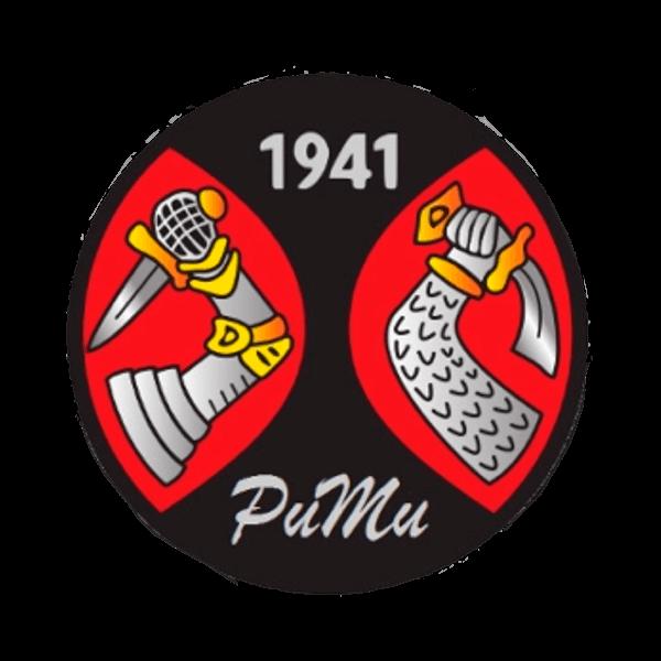 Puna-Mustat Ry urheiluseuran logo
