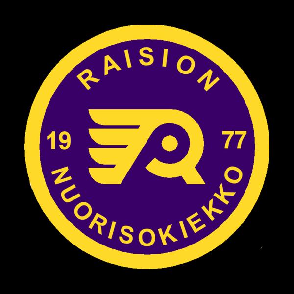 Raisio Nuorisokiekko Ry urheiluseuran logo