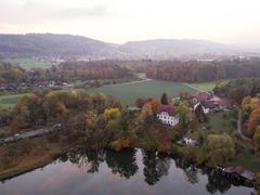 """Vorschaubild für Stock Bild """"img-20151016-183042-aerialstock-katzensee-00037"""""""