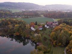 """Vorschaubild für Stock Bild """"img-20151016-183028-aerialstock-katzensee-00036"""""""