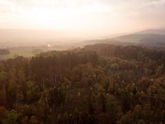 """Vorschaubild für Stock Bild """"img-20151016-180124-aerialstock-katzensee-00003"""""""