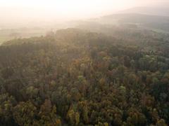 """Vorschaubild für Stock Bild """"img-20151016-180426-aerialstock-katzensee-00013"""""""