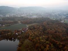 """Vorschaubild für Stock Bild """"img-20151016-184613-aerialstock-katzensee-00067"""""""