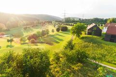 """Vorschaubild für Stock Bild """"img-20180607-201757-aerialstock-golfplatz-kyburg-winterthur-00004"""""""