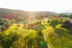 """Vorschaubild für Stock Bild """"img-20180607-201812-aerialstock-golfplatz-kyburg-winterthur-00006"""""""