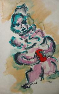 Payaso con pelota roja (1968)