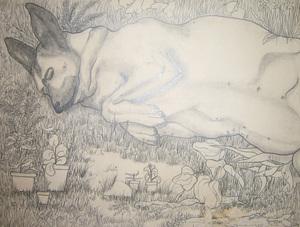Pitusa en el jardín (1979)