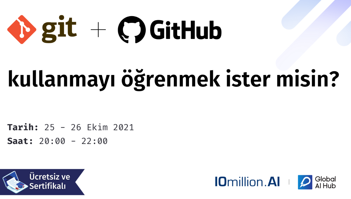 GIT & GitHub, Versiyon Kontrol Sistemleri ve Portfolyo Eğiti...