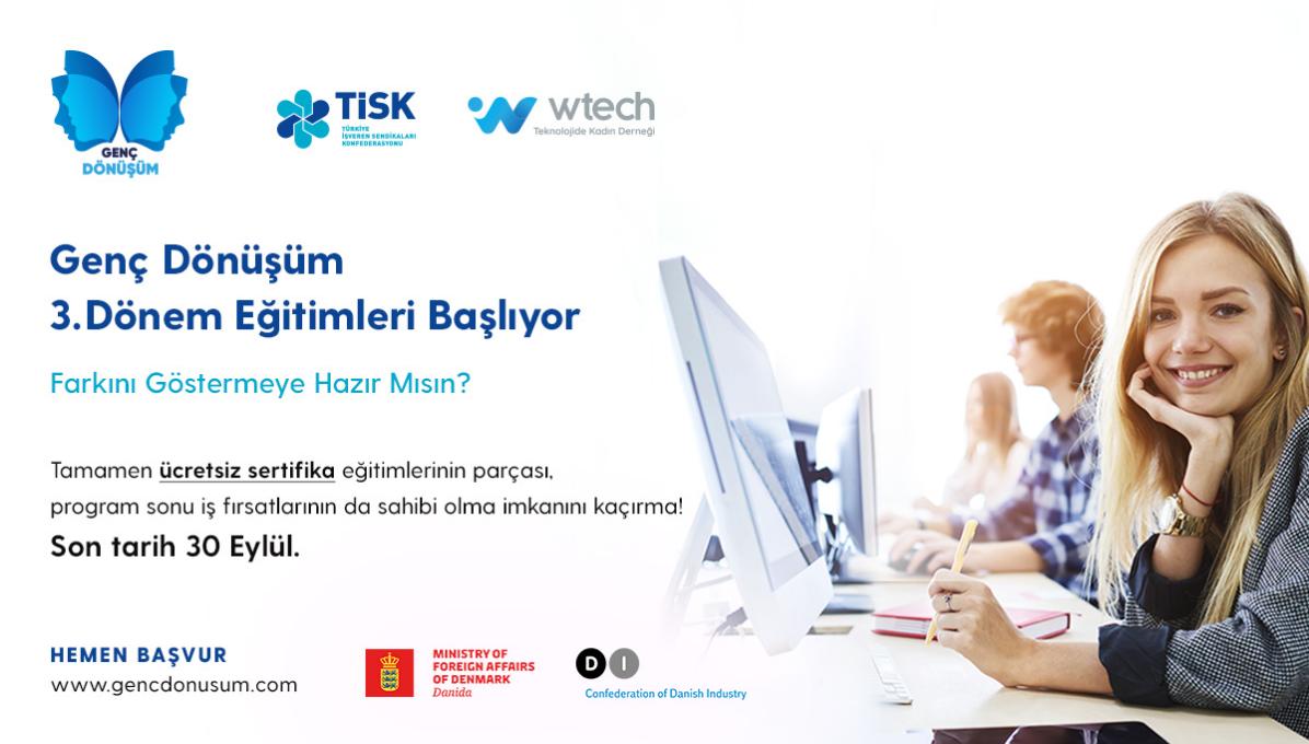Teknolojide Kadın Derneği - Genç Dönüşüm Akademi Eğitimleri cover img