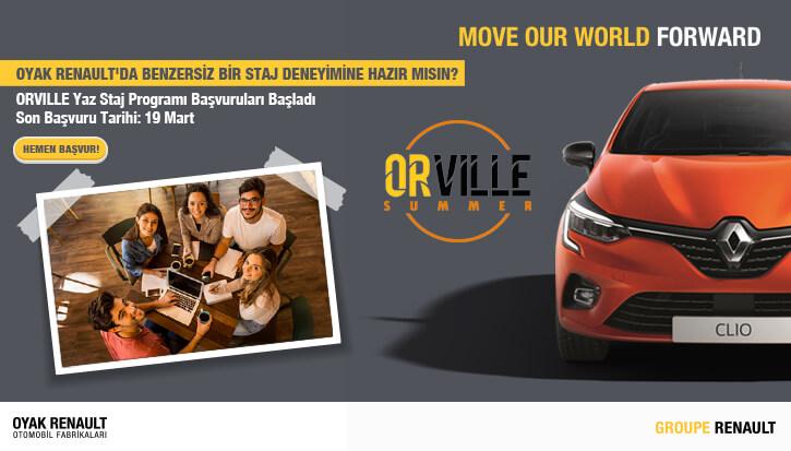Oyak Renault - ORVILLE SUMMER'21 Staj Programları