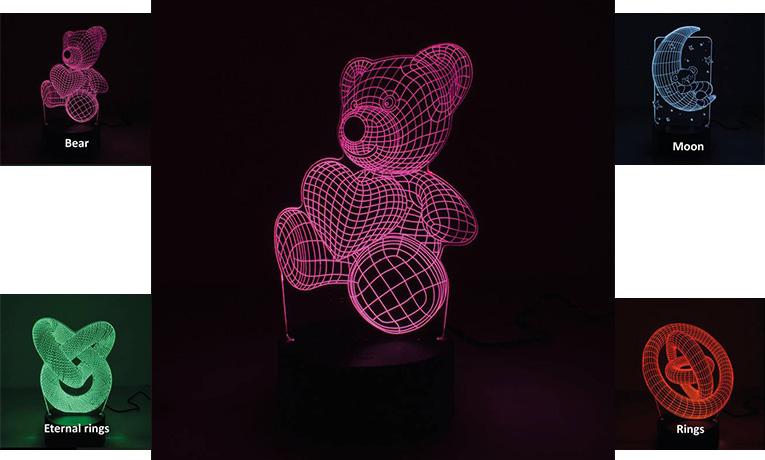 €21 για ένα Επιτραπέζιο 3D Illusion Φωτιστικό Νυχτός