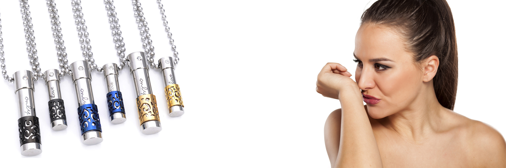 Perfume Bottle Necklace For Couples