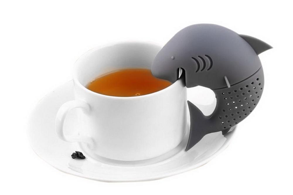 Μικρός καρχαρίας - φίλτρο σιλικόνης για το τσάι σας