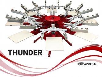 THUNDER THUNDER ročni karusel za sitotisk na tekstil