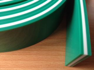 8111851 Trojna zelena rakel guma trdote 75/90/75 SH - 2,6m