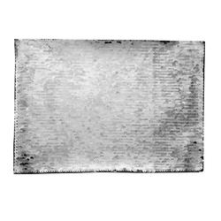 BJLP2 Samolepilni sequin v obliki pravokotnika (srebrn/bel)