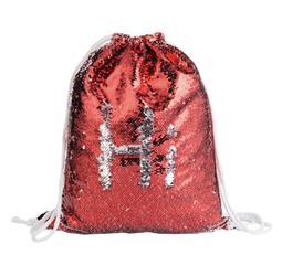 BXSN04 Sequin nahrbtnik (rdeč / srebrn)