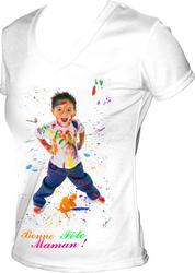 31STSF Ženska sublimacijska majica z V ovratnikom